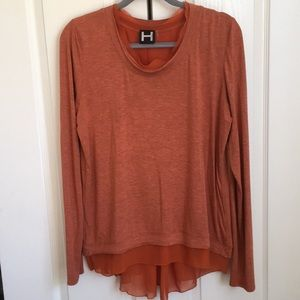 H by Bordeaux hi-low layered-look top EUC